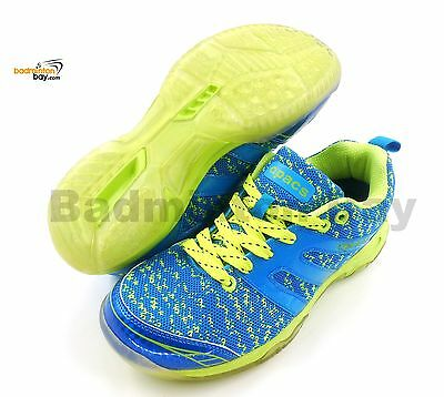 Apacs Cushion Power 072 Blue Badminton Shoes With Transparent Outsole