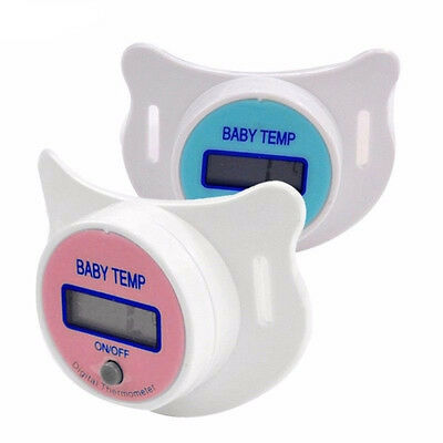 Hot Random Color Useful Baby Pacifier Nipple Thermometer LCD Digital Baby Care