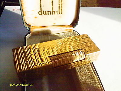 Dunhill Lighter Gold Rollagas,tartan Case,free Gift Wrap,box & Papers,guarntee