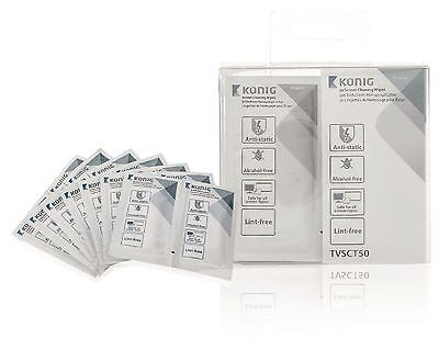KONIG TV and Smart Media Cleaning Wipes 50 pcs TVSCT50