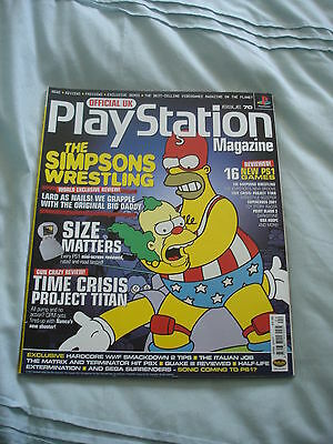 Official UK Playstation magazine with disc  issue # 70 - Simpson's wrestling