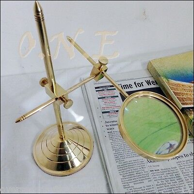 Solid Brass Magnifier Glass Desktop Collectible Victorian Style Magnifier Gift