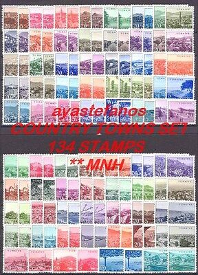 Turkey 1958-60 Great Country Towns Set-The Longest Set The World 134  ** Stamps