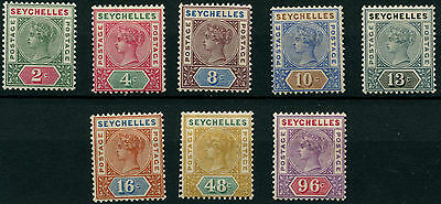 Seychelles SG1-8 QV 1890 Definitives (8 values) Mounted Mint