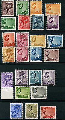 Seychelles SG135-148 1938 GVI Definitives Mounted Mint (25 values)