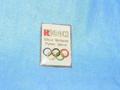 Olympic Games Badge Winter Olympics 1992 Albertville Pin Kicoh Button Enamel