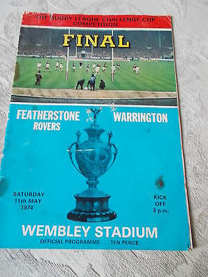 Feathertone Rovers v Warrington programme 11.5.74 Challenge Cup Final Wembley
