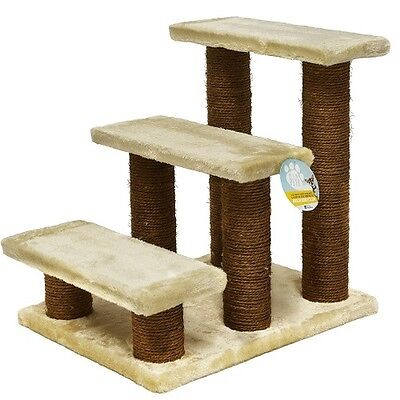 Pet Stairs and Ramps Cats Dogs Climbing Aid 3 Steps Fleece Arthritis Problems