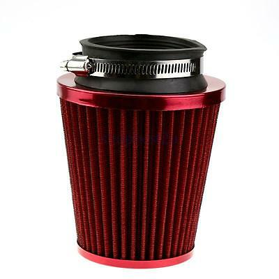 Durable Car SUV Red 3 Inch Inlet Cone Intake Air Filters Universal for Cars SH