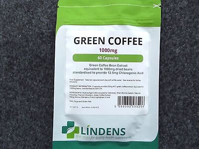 Lindens Green Coffee 1000Mg X  60 Caps Weigh Loss Fat Burner Health Supplement