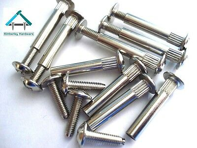 M4 Connecting Screws Bolts Kitchen Cabinet Furniture Carcase Connectors X 50