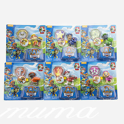 UK Set of 6 Paw Patrol Action Pack Pup dog backpack projectile Kids toys Gifts