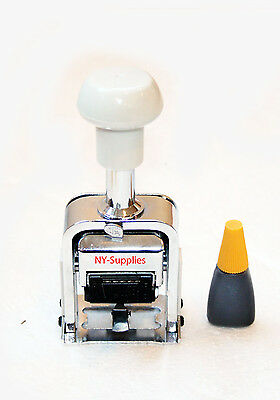"Automatic Numbering Machine - 7 digit 3/16"" Roman Font Repeat 0,1,2,3,4,5,6,12"