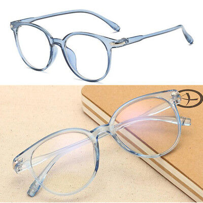Vintage Oversize Oval Eyeglass Frames Full Rim Glasses unisex clear lenses