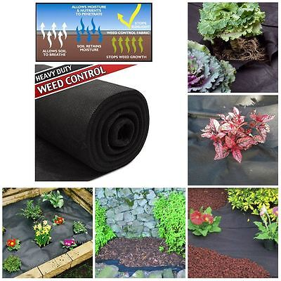 HEAVY DUTY 25 x 1M WEED CONTROL FABRIC GROUND SHEET GARDEN LANDSCAPE PROTECTOR