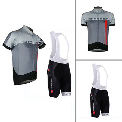 2017 Outdoor Wear Bike Short Sleeve Mens Cycling Suits Jersey Bib Shorts Sets