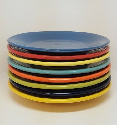 Fiestaware 9 inch Luncheon Plate Lot of 8 Mixed colors Fiesta Lunch plate 8C2M3