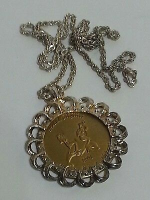 Mermaid Island Mystics Doubloon Necklace Welcome to new Millennium Mardi Gras