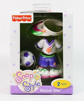 NIB Fisher Price Snap N Style Soccer Star Outfit 2+yrs Toy Gift