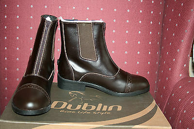 Dublin Reserve Ladies Leather Front Zip Paddock Boots 7 Brown