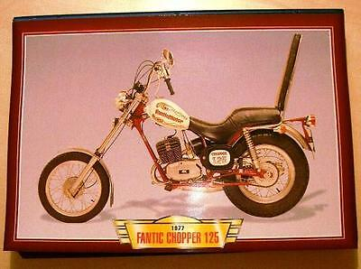 Fantic Chopper 125 Vintage Classic Motorcycle Bike 1970's Picture Print 1977