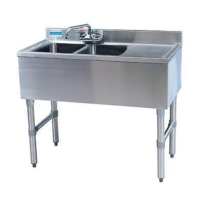 "Bk Resources 48""wx18-1/4""d Stainless Steel Slimline Underbar Sink - Bkubw-248Rs"