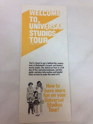 Vintage 1976 fold-out brochure, Universal Studios Tours, Hollywood, L.A., CA