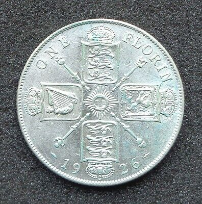 1926 - George V - Silver FLORIN - A/UNC
