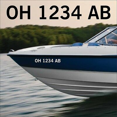 pair boat registration numbers vinyl lettering decals custom made stickers