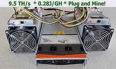 Two Antminer S7 + 2880 Watt PSU + PCIe Harness = 9.5 TH/s Ready To Plug & Mine
