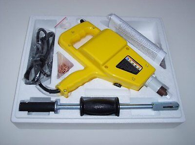 Auto body Electric Stud Welder Gun Dent Repair Kit With Slide Hammer & Nails NIB