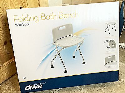 Drive Folding Bath Bench Seat Chair With Back