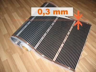 Electric floor heat mat (w/Carbon film) for laminate, tiles - 0,5m, 140W/m2
