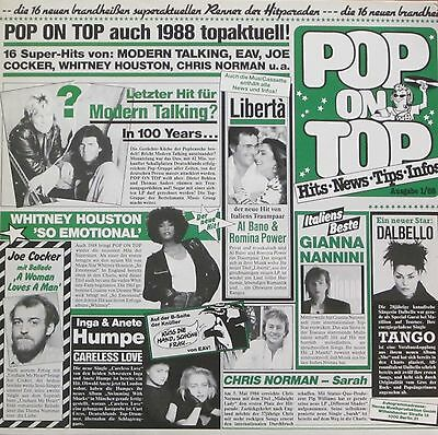 Pop On Top 01/88 - 16 Super-Hits: Chris Norman, Joe Cocker (SRI LP Germany 1988)
