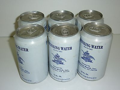Lot 6 Anheuser Busch Hurricane Rescue Canned Drinking Water 12 oz Aug Sept 2004