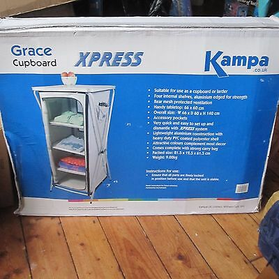 Kampa Grace 4 Shelf Camping Caravaning Cupboard / Larder Portable New Free Post