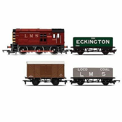 Hornby Railroad Diesel Freight Train Pack R3488 Locomotive and 3 Carriages