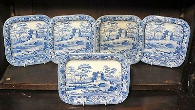 Spode Tower pearlware Staffordshire blue and white transfer printed C1830