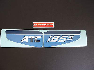 1983 Honda ATC 185s Three Wheeler Fender Decal Set