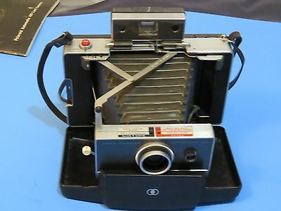 Vintage Polaroid Automatic  100 Land Camera, Flash and Case