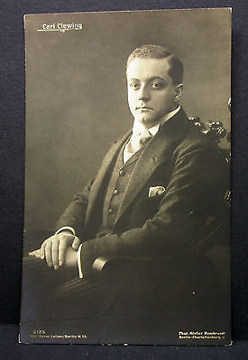 Carl Clewing - Theater Oper Atelier Rembrandt - Foto Autogramm-AK (Lot-H-4700