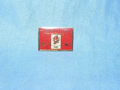 Olympic Games Badge Winter Olympics 1992 Albertville Pin Red Button Enamel