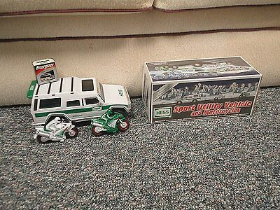 Hess Sport Utility Vehicle and Motorcycles 2004 Hess Toy Truck