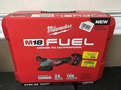 Milwaukee 2780-22 M18 FUEL 4-1/2 in. / 5 in. Grinder Paddle No-Lock, 1 Battery