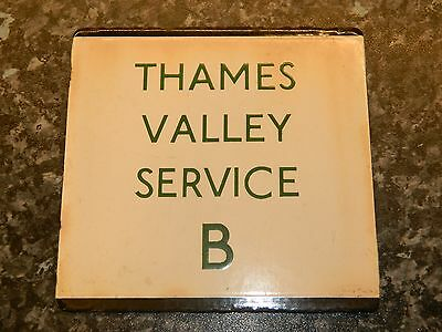 *(Buy It Now) London Transport E plate Thames Valley Service B