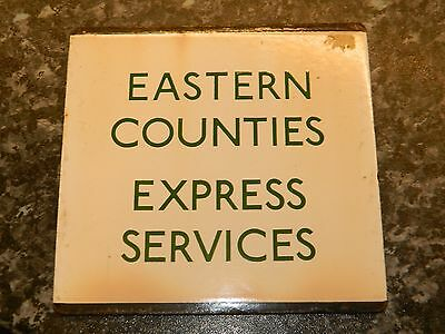 *(Buy It Now) London Transport E plate Eastern Counties Express Services