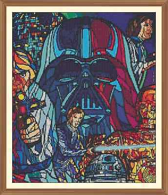 ABSTRACT STAR WARS  CROSS STITCH CHART ONLY 12.0  x 10.1Inches