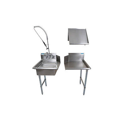"BK Resources BKDTK-48-L-G 48"" Stainless Steel Dish Table Clean Room Kit"