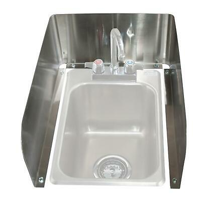BK Resources BK-DI1014-SS Removable 3-Sided Stainless Steel Splash Guard