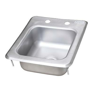 """BK Resources BK-DIS-0909-5 One Compartment 12""""x14"""" Stainless Steel Drop-In Sink"""